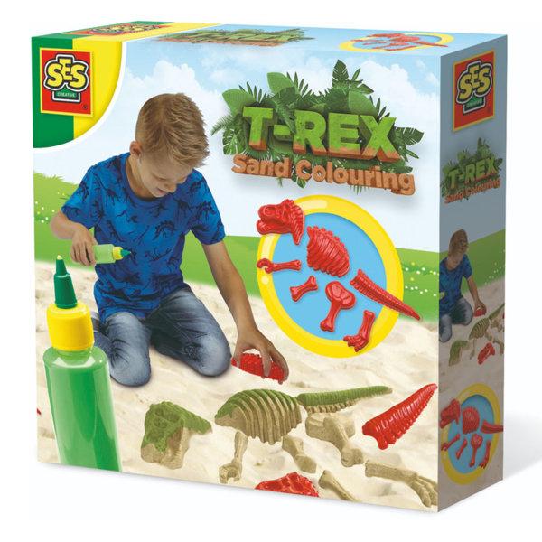 SES Creative - Формички за пясък с боичка Динозавър 02214