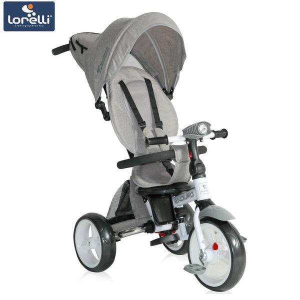Lorelli - Триколка ENDURO с родителски контрол и регулируема облегалка сива 10050410005