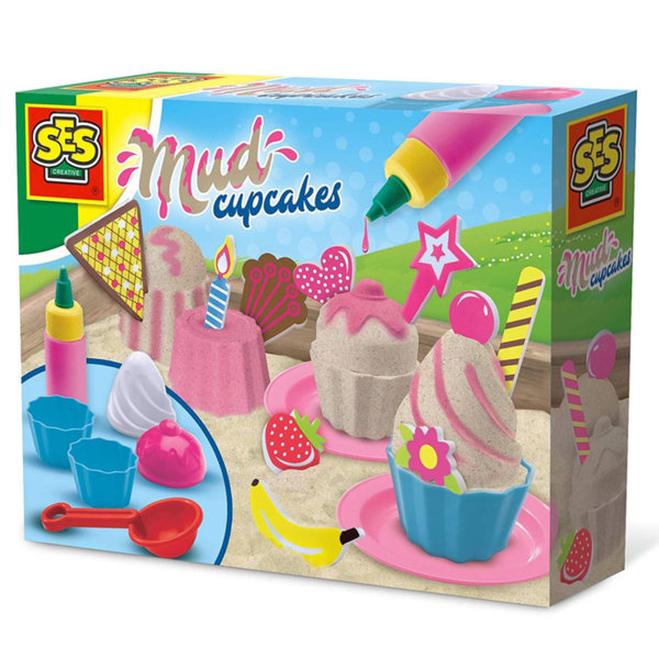 SES Creative - Формички за пясък с боичка Кексчета 02213
