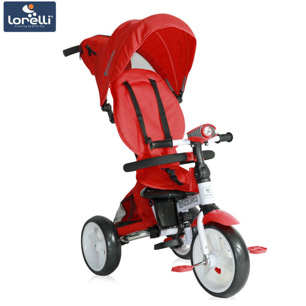 Lorelli - Триколка ENDURO с родителски контрол и регулируема облегалка червена 10050410004