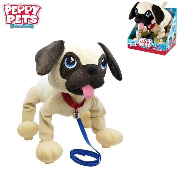 Peppy Pets - Плюшено куче Мопс за разходка навън 245291