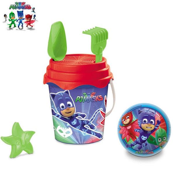 Mondo - Детска кофа с формичка и топка PJ Masks 28420