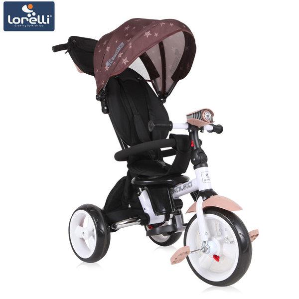 Lorelli - Триколка ENDURO с родителски контрол и регулируема облегалка кафява 10050410011
