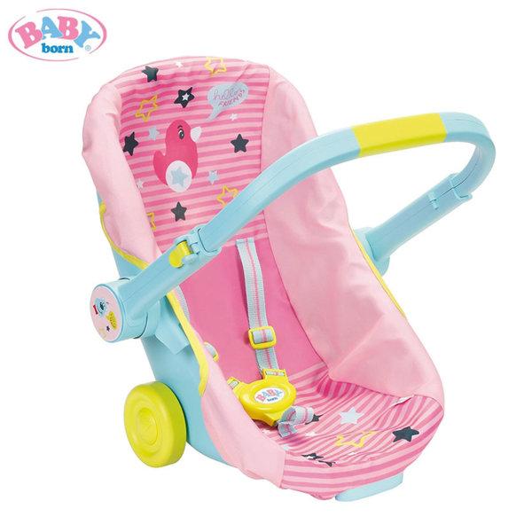 Baby Born - Столче за кола с колелца за кукла Бейби Борн 824412