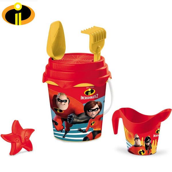 Mondo Disney - Детска кофа с формичка и лейка Дисни Феноменалните 28413