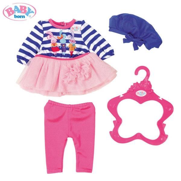 Baby Born - Комплект дрешки за кукла Бейби Борн момиче в лилаво 824528