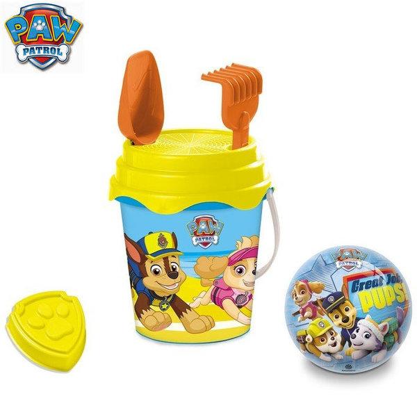 Mondo - Детска кофа с формичка и топка Paw Patrol 28322