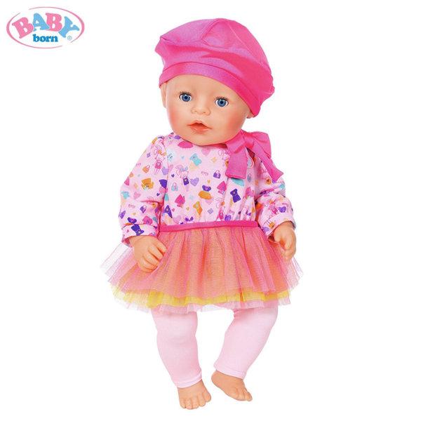 Baby Born - Комплект дрешки за кукла Бейби Борн момиче в розово 824528