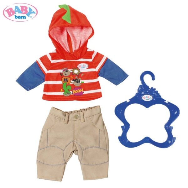 Baby Born - Комплект дрешки за кукла Бейби Борн момче в оранжево 824535