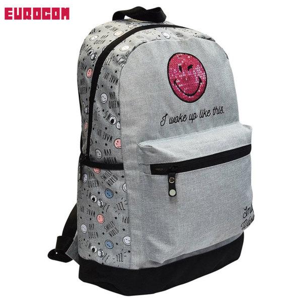 Eurocom - Ученическа раница Smiley Sleepy 53599