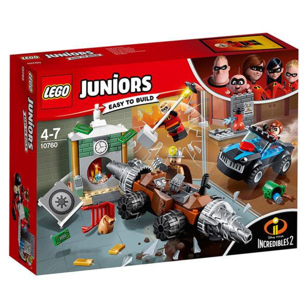 Lego 10760 Juniors Disney The Incredibles - Ъндърмайнър обира банка