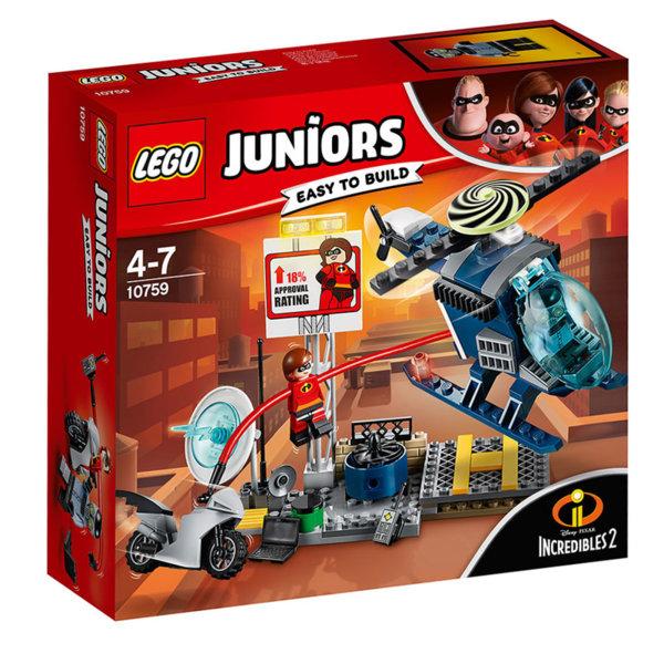 Lego 10759 Juniors Disney The Incredibles - Преследване по покривите с Еластина