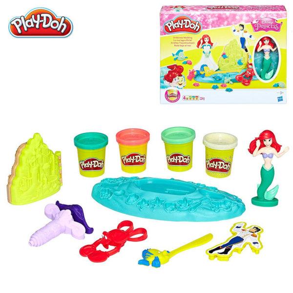 PlayDoh - Disney Принцеси Подводната сватба на Ариел Е0373