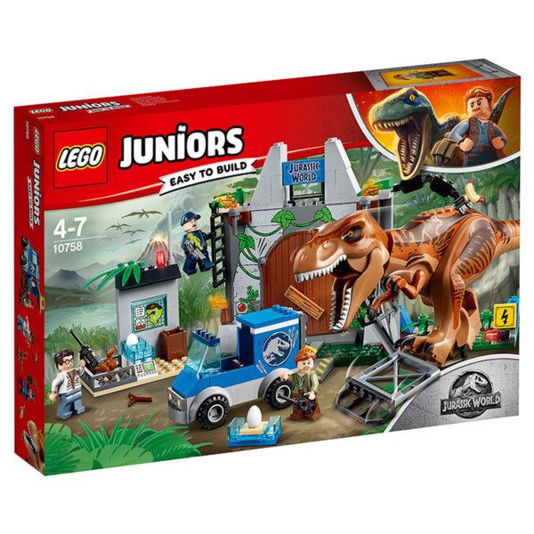Lego 10758 Juniors Jurassic World - Бягство на тиранозавър