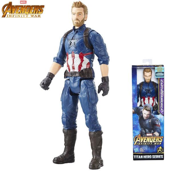 Marvel Avengers - Екшън фигура 30см Капитан Америка Infinity War E0570