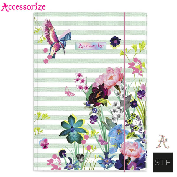 Accessorize Birds - Папка с ластик Аксесорайз 01859