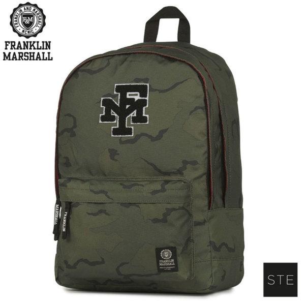 Franklin Marshall Camouflage - Ученическа раница Франклин Маршал 00908