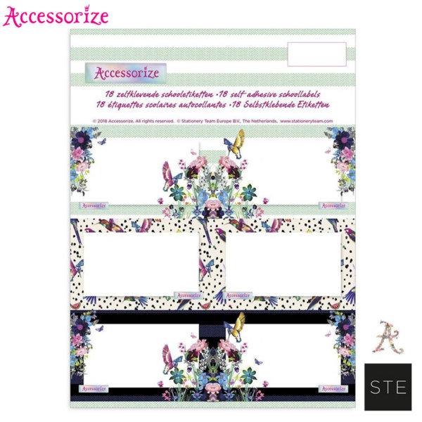 Accessorize Birds - Ученически етикети Аксесорайз 01860