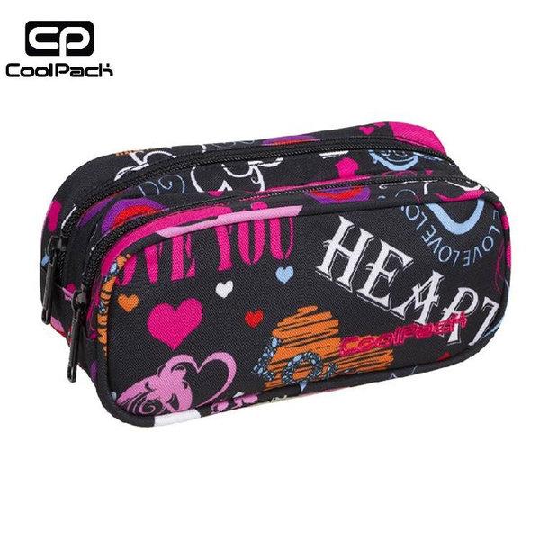 Cool Pack Clever - Ученически несесер 2 ципа Emotions A256
