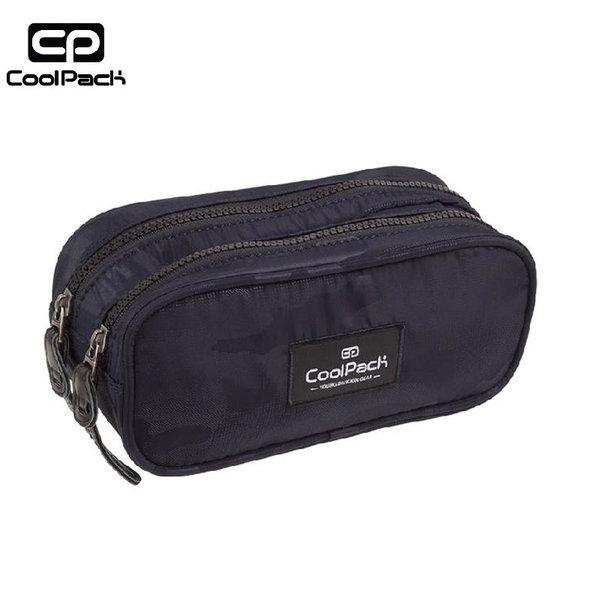 Cool Pack Clever - Ученически несесер 2 ципа Camo Black A562