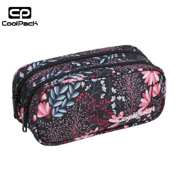 Cool Pack Clever - Ученически несесер 2 ципа Coral Blossom A272