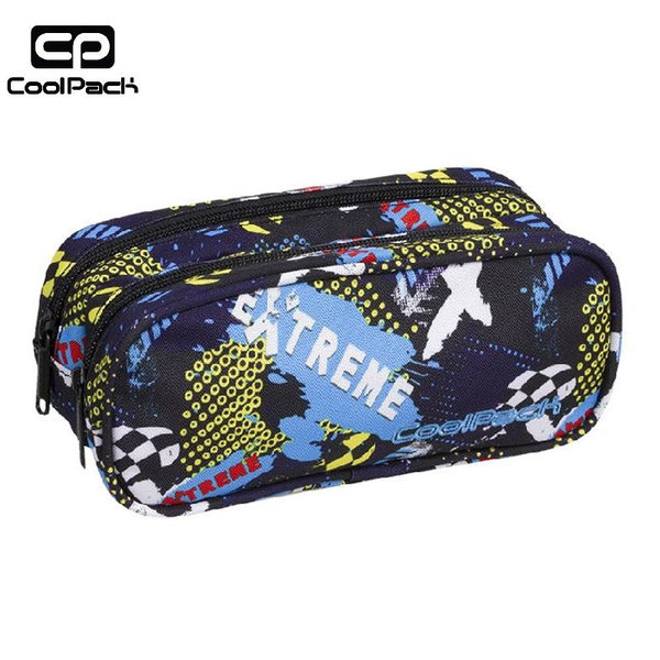 Cool Pack Clever - Ученически несесер 2 ципа Extreme A280