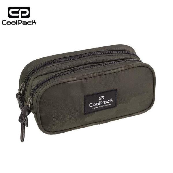 Cool Pack Clever - Ученически несесер 2 ципа Camo Olive Green A570