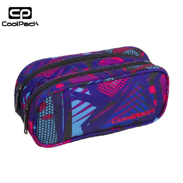 Cool Pack Clever - Ученически несесер 2 ципа Crazy Pink Abstract A290