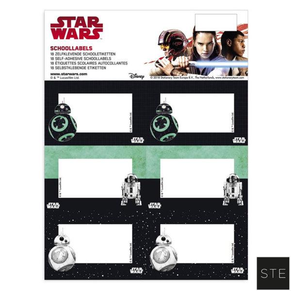 Star Wars - Ученически етикети Междузвездни войни 02446