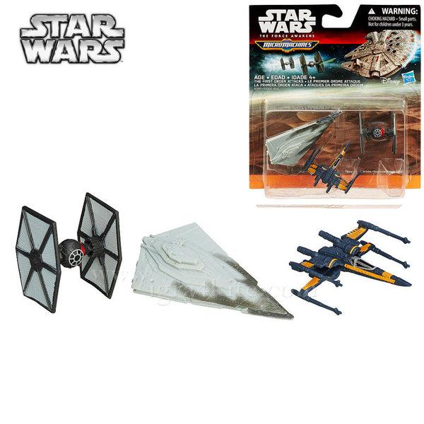 Hasbro Star Wars - Комплект 3 бойни кораба от Междузвездни войни The First Order Attacks b3500