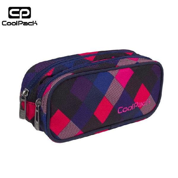 Cool Pack Clever - Ученически несесер 2 ципа Electric Pink A524
