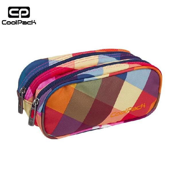 Cool Pack Clever - Ученически несесер 2 ципа Candy Pink A532