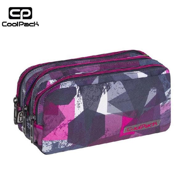 Cool Pack Primus - Ученически несесер 3 ципа Pink Abstract A081
