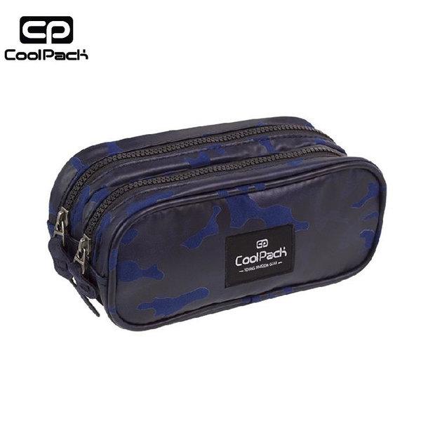 Cool Pack Clever - Ученически несесер 2 ципа Flock Camo Blue A559