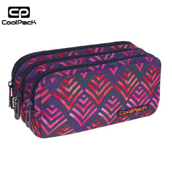 Cool Pack Primus - Ученически несесер 3 ципа Hawaii Pink A013