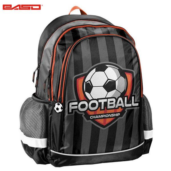 Paso Football Grey - Ученическа раница Футбол 18-081FB