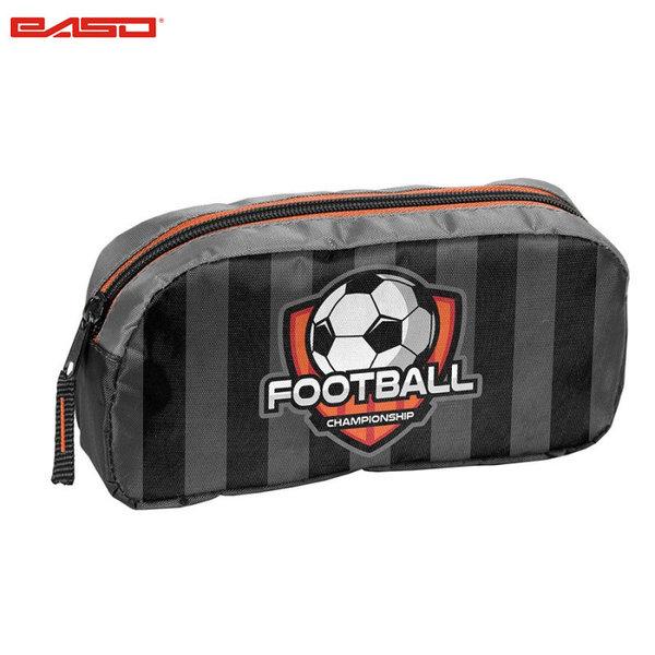 Paso Football Grey - Ученически несесер с 1 цип Футбол 18-004FB