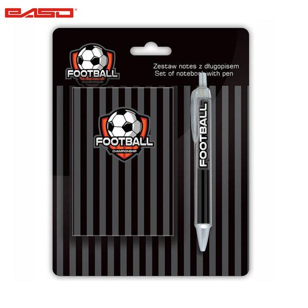 Paso Football Grey - Комплект тефтер и химикалка Футбол 18-3642FB