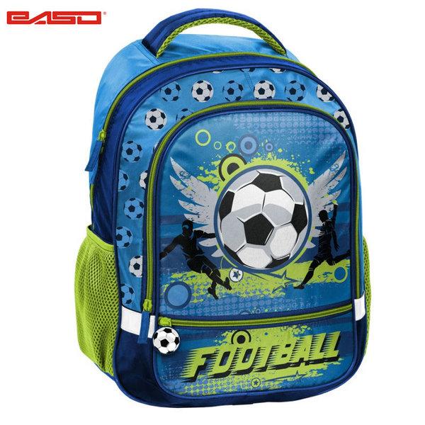 Paso Football Blue - Ученическа раница Футбол 17-260X