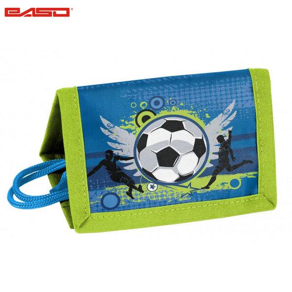 Paso Football Blue - Детско портмоне с връзка Футбол 17-002X