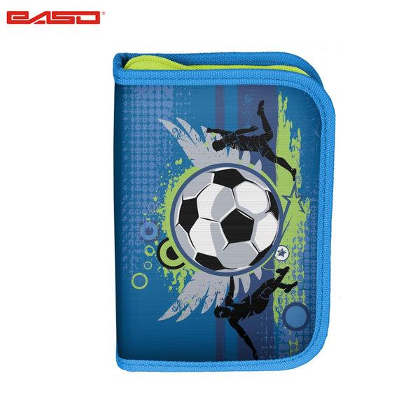 Paso Football Blue - Ученически несесер с 1 цип Футбол 17-001X/BW