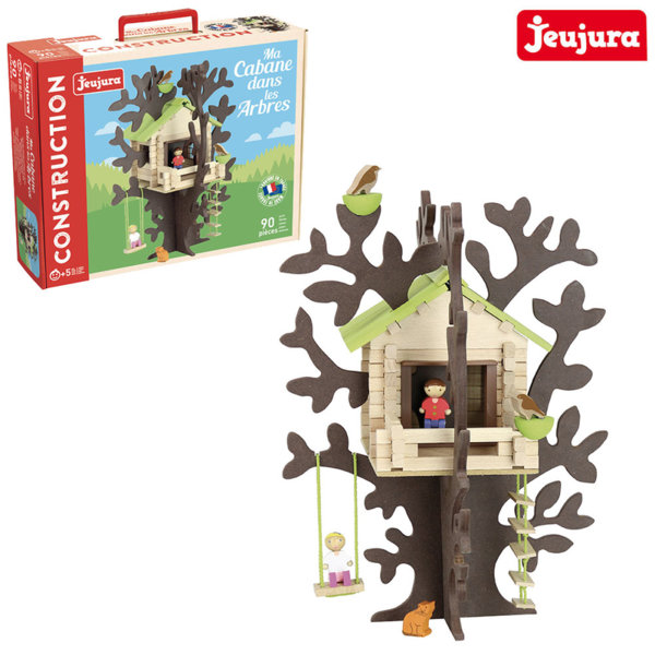 Jeujura - Дървен конструктор Къща на дърво J8075