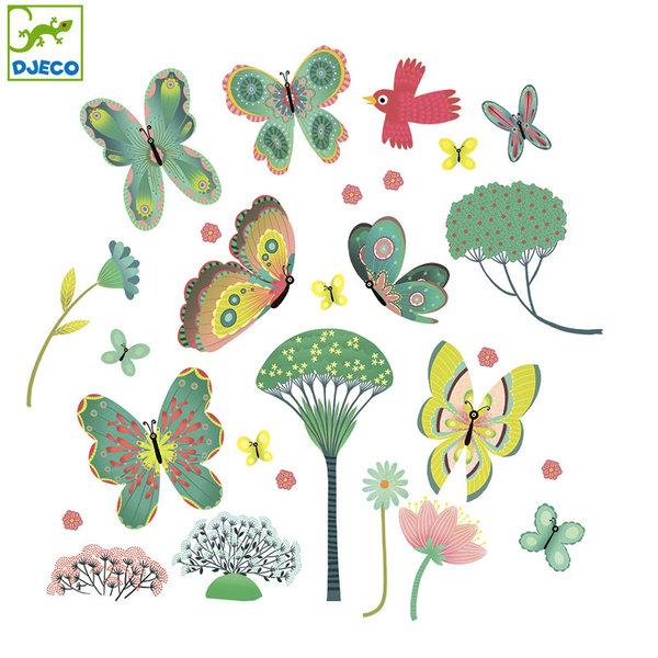 Djeco - Стикери за стъкло Пеперуди в градината DD05051