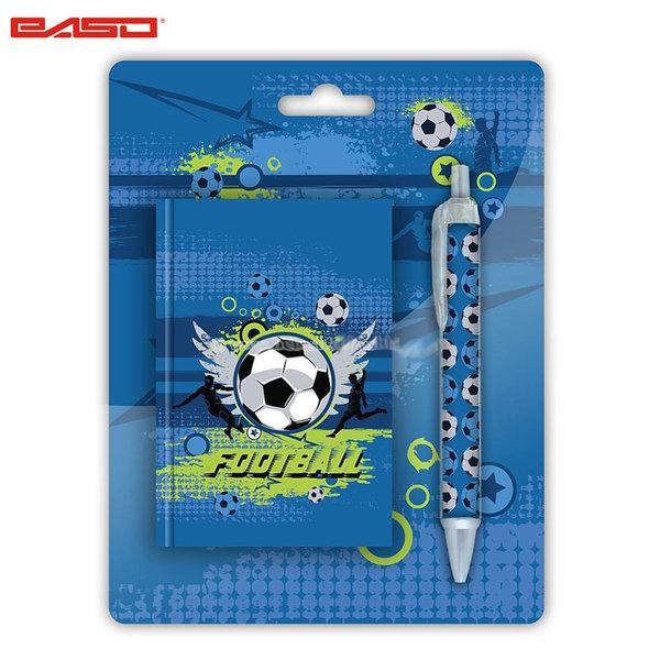 Paso Football Blue - Комплект тефтер и химикалка Футбол 17-3642X