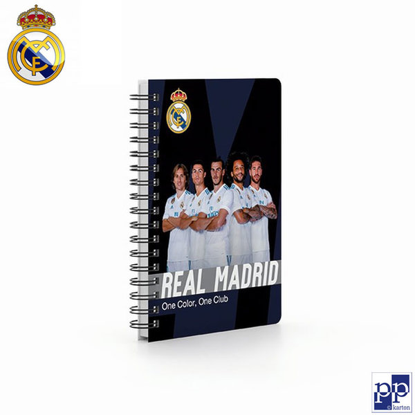 Karton P+P Real Madrid - Тефтерче спирала А6, 70 листа Реал Мадрид 7-50618