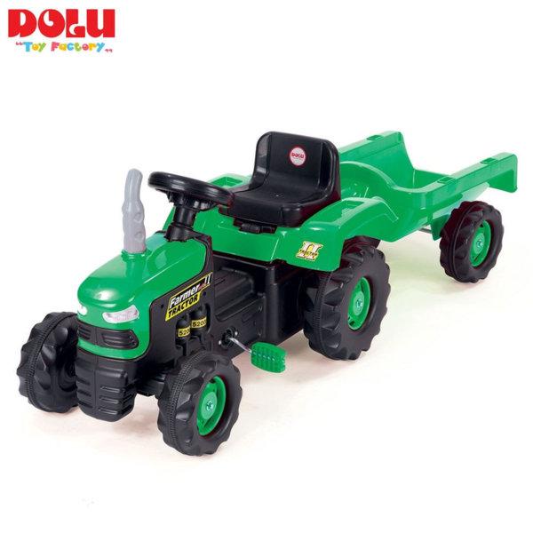 Dolu - Детски трактор с ремарке с педали 8053