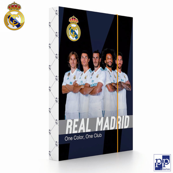 Karton P+P Real Madrid - Папка кутия с ластик Реал Мадрид 1-80318