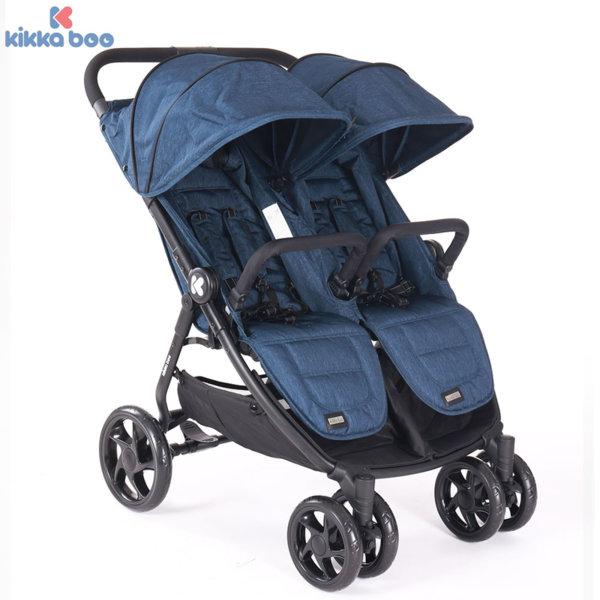 Kikka Boo - Количка за близнаци Happy 2 Blue 31001040004