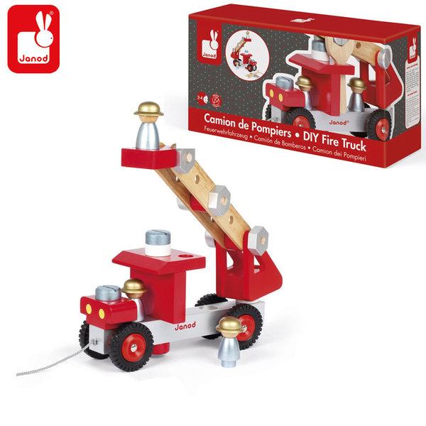 Janod - Дървена пожарна конструктор j06498