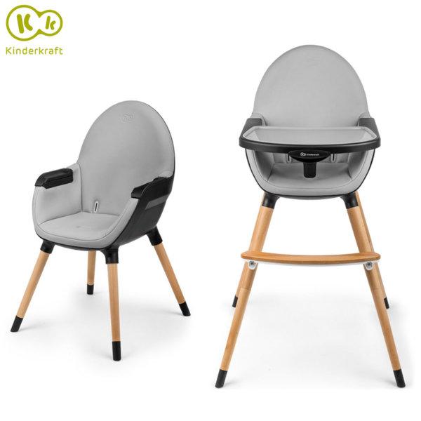 KinderKraft - Стол за хранене 2в1 FINI черен 99244